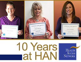 Staff Recognized for 10 Years of Service at HAN