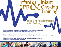 HAN Offering Infant CPR and Infant Choking Trainings in September and October