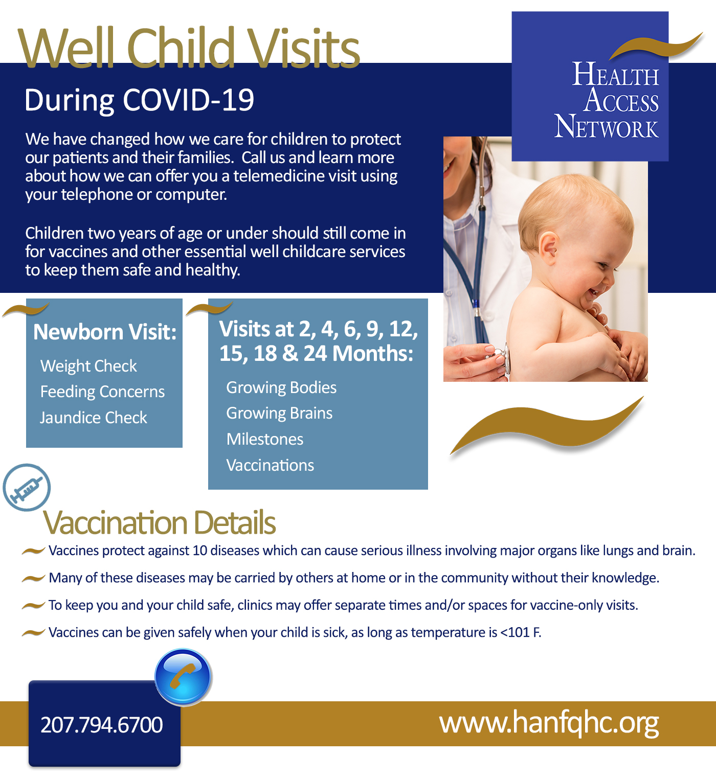 Well Child Checks and Immunizations Recommended by Maine CDC
